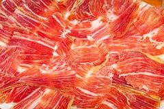 Iberico espanhol do jamon cortado imagem de stock royalty free