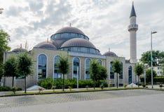 Uma das mesquitas as mais grandes em Alemanha sob o sol Fotografia de Stock