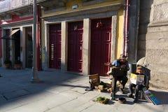 Uma das ruas no centro histórico de Porto velho do centro Imagens de Stock Royalty Free