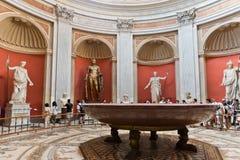 Uma das salas do museu do Vaticano Imagens de Stock Royalty Free