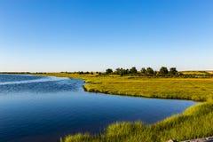 Uma de muitas baías de Chappaquiddick Massachusetts imagem de stock royalty free