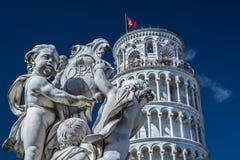 Uma de sete maravilhas do mundo - Pisa Itália Imagens de Stock