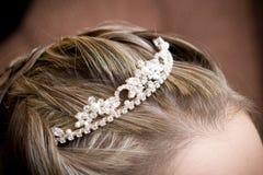Uma decoração bonita ao cabelo Imagem de Stock