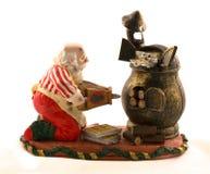 Uma decoração bonito de bolinhos do cozimento de Santa imagens de stock