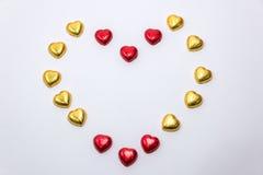 Uma decoração do Valentim com chocolate e outro Fotografia de Stock Royalty Free