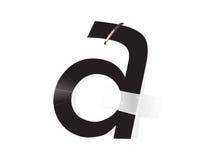 Uma distorção da letra Fotos de Stock
