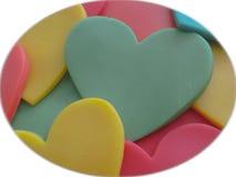 Uma diversidade dos corações Imagem de Stock