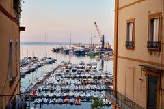 Uma doca do mar em Salerno Imagens de Stock Royalty Free