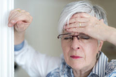 Uma dor de cabeça Foto de Stock