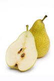 Uma e metade da pera saboroso Foto de Stock Royalty Free