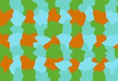 Uma equipe amigável de abstrações azuis, verdes, alaranjadas compõe um fundo criativo para o tela de computador, telefone, tabule imagem de stock royalty free