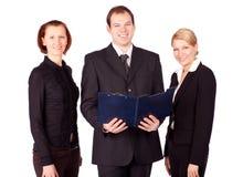 Uma equipe atrativa, diversa do negócio imagem de stock royalty free