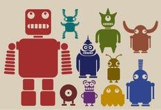 Uma equipe dos robôs Fotos de Stock Royalty Free