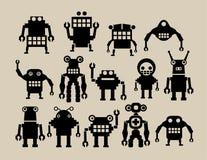 Uma equipe dos robôs Foto de Stock Royalty Free