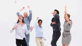Uma equipe entusiasmado do negócio Imagens de Stock