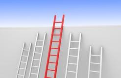 Uma escada alcança a parte superior ilustração do vetor