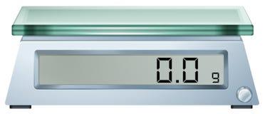 Uma escala de peso digital Fotos de Stock
