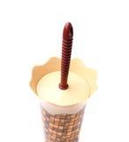 Uma escova do toalete na caixa Fotos de Stock Royalty Free
