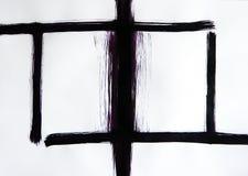 Uma escova tira as linhas que se cruzam perpendicularmente Janela da harmonia Estática estável imagem de stock royalty free
