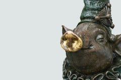 Uma escultura de bronze de um porco, espaço da cópia imagem de stock