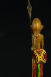 Uma escultura de madeira Imagens de Stock Royalty Free