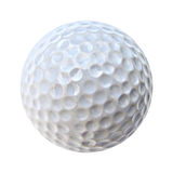 Uma esfera de golfe branca Imagens de Stock Royalty Free