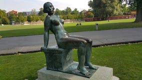 Uma estátua da mulher Foto de Stock Royalty Free