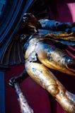 Uma estátua de bronze da porca jovem do século II atrasada de Hercules está alta na rotunda do museu do Vaticano s Pio Clementine fotos de stock royalty free