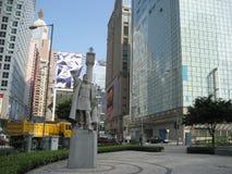 Uma estátua de pedra de Jorge Alvares fotografia de stock royalty free