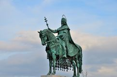 Estátua do rei St Stephen Budapest Hungria Fotografia de Stock