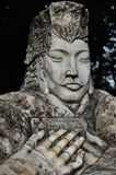 Uma estátua do herói chinês antigo Liu Bei Imagens de Stock Royalty Free
