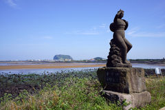 Uma estátua do mergulhador fêmea Fotografia de Stock Royalty Free