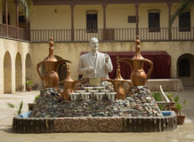 Uma estátua do poeta Muhammad Mahdi Jawahiri fotografia de stock