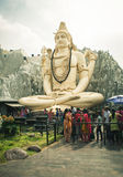Uma estátua grande de Shiva Fotos de Stock