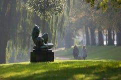 Uma estátua pelo gronningen Dinamarca Fotografia de Stock Royalty Free