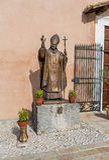 Uma estátua Santo Giovanni Paolo II, santuário de Mentorella, Lazio, Foto de Stock