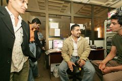 Uma estação de televisão iraquiana independente, Cario Fotografia de Stock