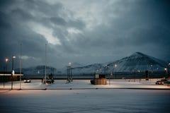 Uma estação do gast antes do nascer do sol em Islândia Imagem de Stock Royalty Free