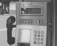 Uma estação do telefone público, Coreia do Sul fotografia de stock royalty free