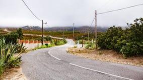 Uma estrada à rocha do cabo Foto de Stock