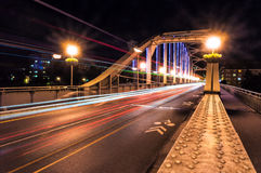 Uma estrada bem iluminado da estrada Fotografia de Stock Royalty Free