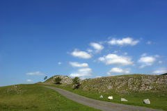 Uma estrada da montanha Foto de Stock Royalty Free