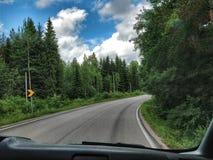 Uma estrada de giro Fotografia de Stock