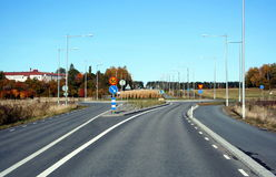 Uma estrada em Europa Fotografia de Stock