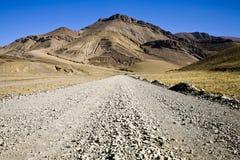 Uma estrada em himalayas Fotografia de Stock Royalty Free