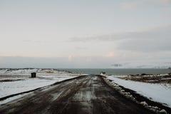 Uma estrada em Islândia Imagem de Stock Royalty Free