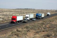Uma estrada I40 ocupada Imagens de Stock