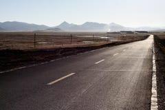 Uma estrada na maneira a lhasa Fotografia de Stock