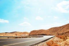 Uma estrada no deserto do Negev Fotos de Stock