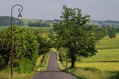 Uma estrada no parque de Morvan fotos de stock